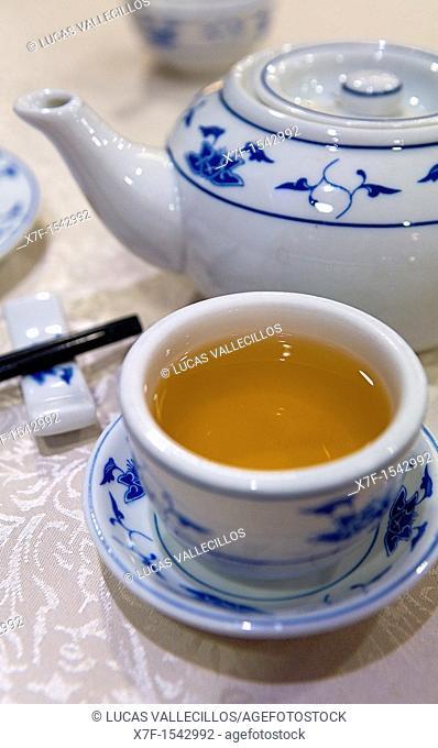 Chinese tea in reustarant of The Peninsula Hotel,Salisbury Road,Hong Kong, China,Hong Kong, China