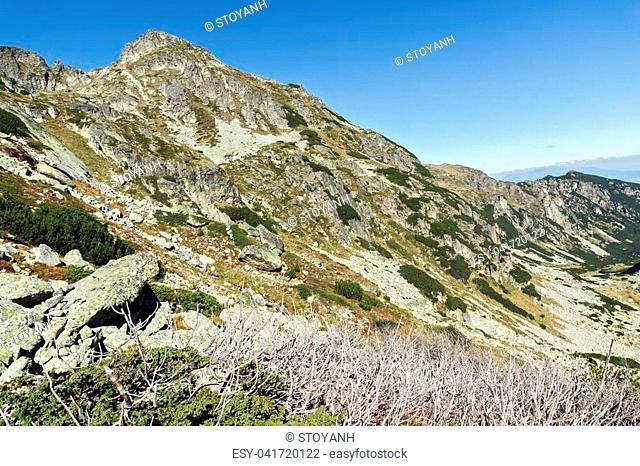 Landscape of The valley of Malyovishka river, Rila Mountain, Bulgaria