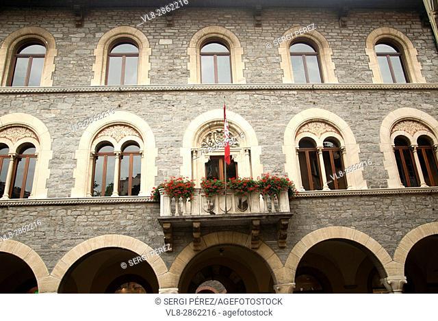 Palazzo civico of Bellinzona. Canton of Ticino. Switzerland