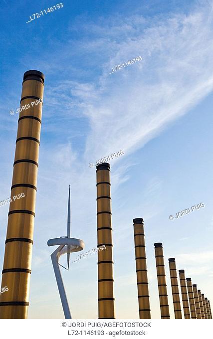Torre Telefonica, Anella Olimpica, Montjuic, Barcelona