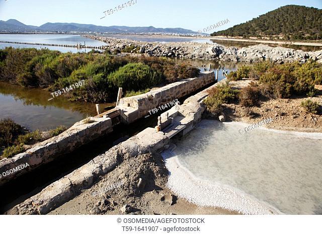 Salt at Ses Salines, Ibiza, Balearic Islands