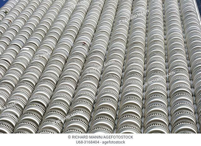Thailand, Bangkok, Silom Road, Bang Rak business district, State Tower