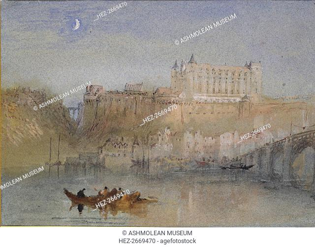 The Bridge and Chateau at Amboise, c1830. Artist: JMW Turner