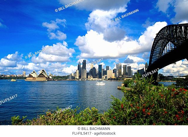 Skyline and Harbour Bridge, Sydney, Australia
