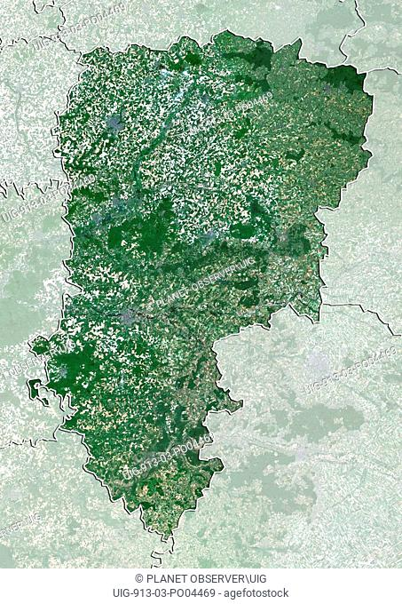 Departement of Aisne, France, True Colour Satellite Image