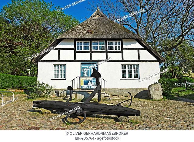 Building in the Moenchgut Museum in Goehren, Moenchgut, Ruegen Island, Mecklenburg-Western Pomerania, Germany, Europe