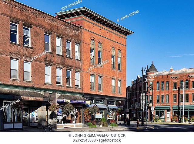 Downtown Hamilton, New York, USA