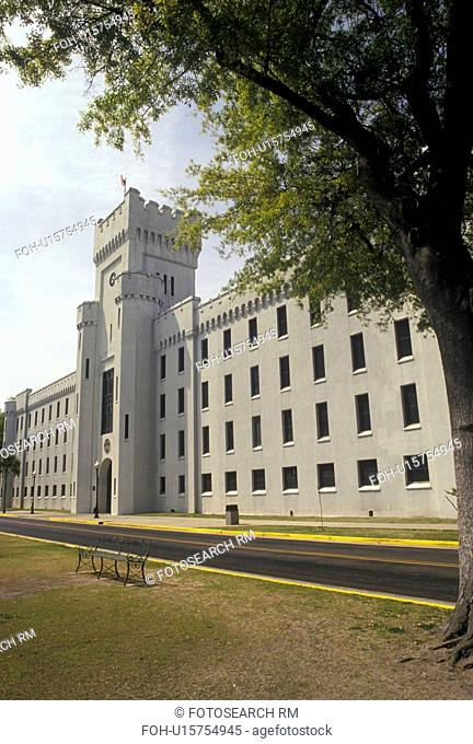 military college, The Citadel, Charleston, South Carolina, SC, Building on the campus of The Military College of South Carolina in Charleston in the spring