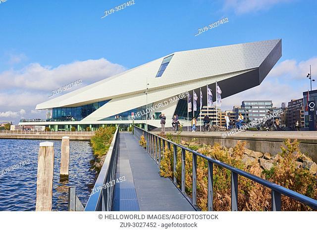 EYE Film Instittute, Overhoeks, Amsterdam-Noord, Amsterdam, Netherlands. . Designed by Delugan Meissl Architects it is a film museum and Dutch center for film...