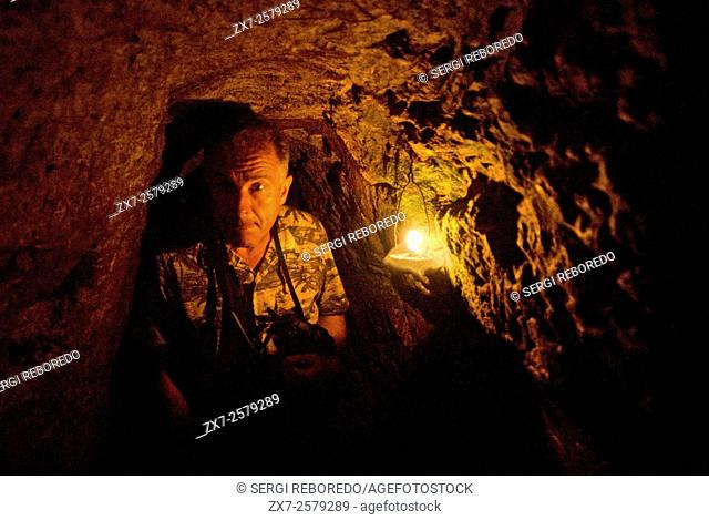 Vinh Moc tunnels in the Demilitarized Zone. (DMZ). Hue, Vietnam. Vinh Moc tunnels near DMZ used by VietCong v Americans in the war Pic Rob Judges