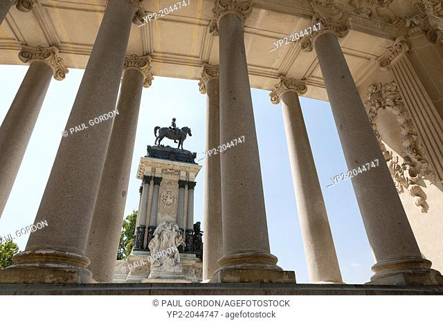 Monument to Alfonso XII in Buen Retiro Park - Retiro, Madrid, Spain