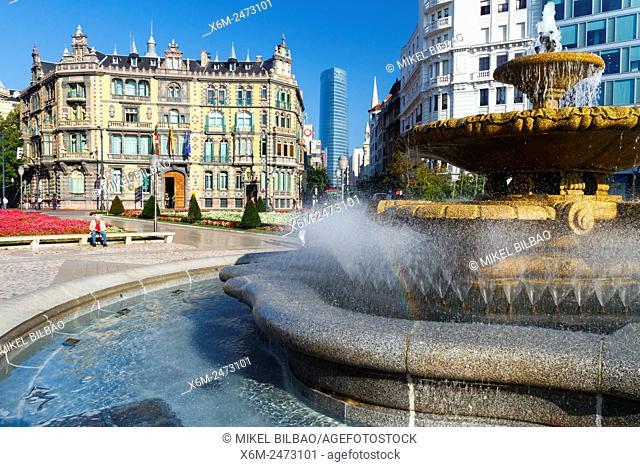 Moyua Square. Bilbao. Biscay, Spain, Europe