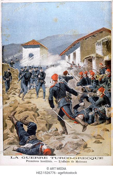 Battle of Meluna, Greco-Turkish War, 1897. The Greco-Turkish War of 1897, also called the Thirty Days' War, began after Greece's nationalist government declared...