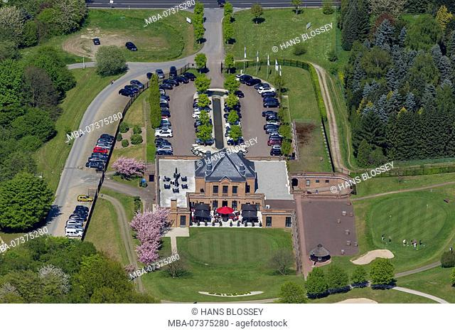 Kosaido International Golf Club Dusseldorf, Knittkuhl, Hubbelrath, aerial photo, districts of Dusseldorf
