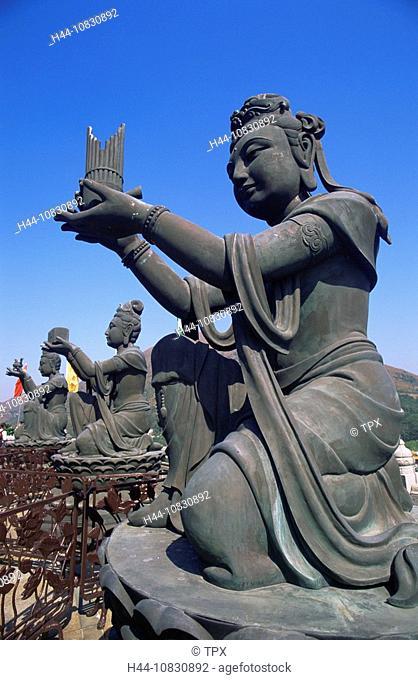 Hong Kong, Lantau, Po Lin Monastery, Buddhism, Buddhist, Religion, Religious Statues, Culture