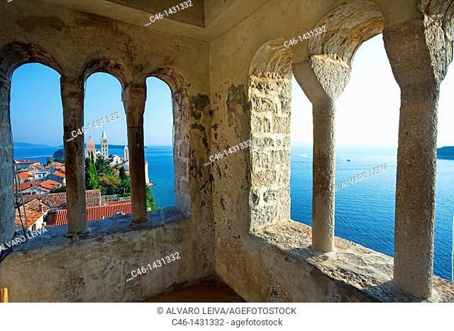 View from Christoph Church, Rab Island, Croatia