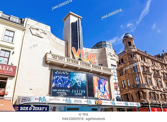 England, London, Leicester Square, Vue Cinema