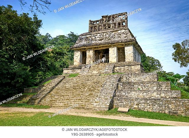 Temple of the Sun, ancient Mayan city of Palenque, Chiapas, Mexico