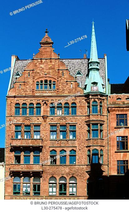 Building in Malmö, Skåne. Sweden