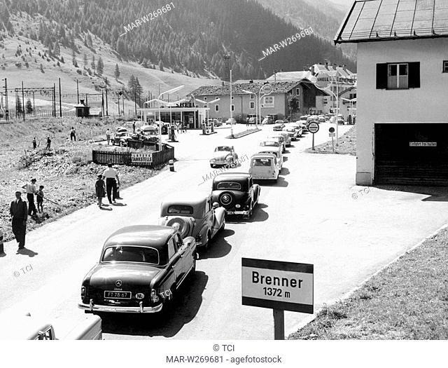 traffico alla frontiera del brennero, 1968