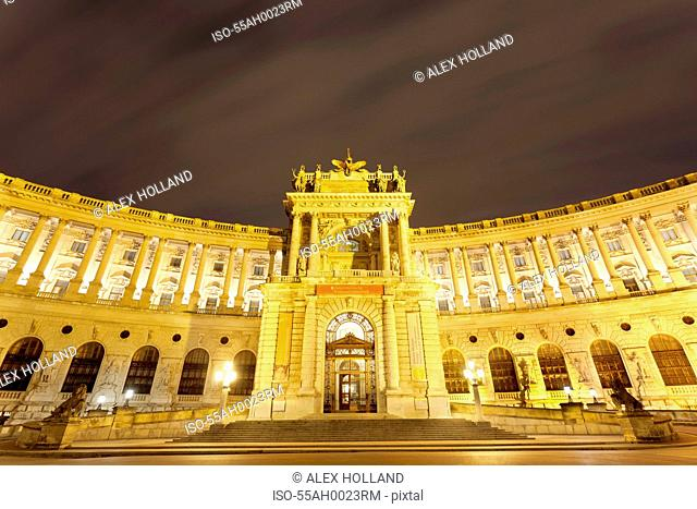 Neue Burg Wing, Hofman Palace, Vienna, Austria