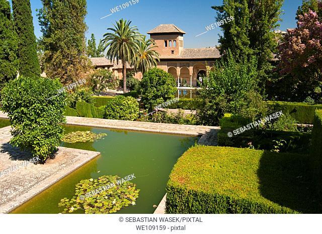 Jardines del Partal, Torre de las Damas Women's Tower, Alhambra, UNESCO World Heritage Site, Granada, Andalucia, Spain, Europe