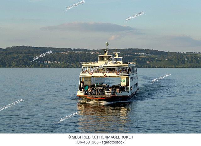 Meersburg-Constance ferry on Lake Constance, near Konstanz, Baden-Württemberg, Germany