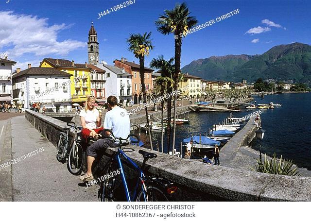 Ascona, Boats, lake, Lago Maggiore, lakes, Canton