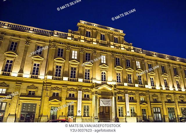 Musee des Beaux in Dusk in Lyon in Auvergne-Rhone-alpes, France