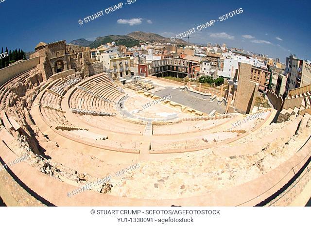 The Roman Amphitheatre in Cartagena, Murcia, Spain