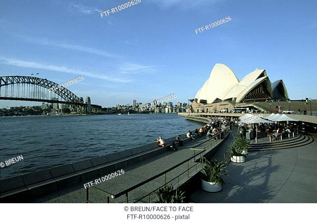 Sydney, Harbour Bridge, Sydney Cove and the Sydney Opera from south