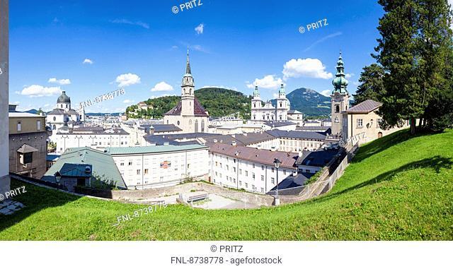 Panorama over Salzburg, Austria, Europe