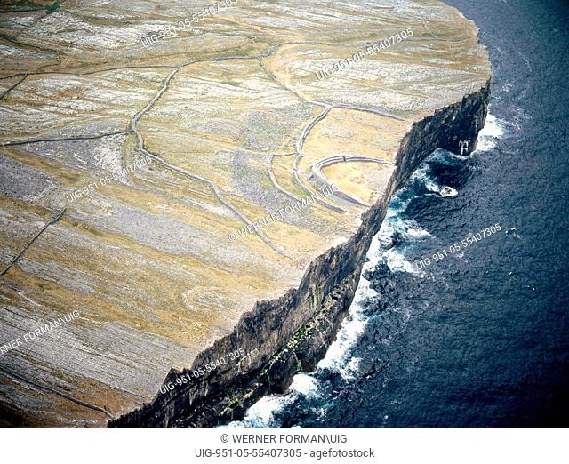 Aerial view of the Fort of Dun Aengus