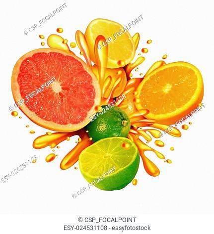 Citrus Fruit Splash