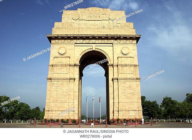 India Gate originally called All India War memorial monument , Rajpath , New Delhi , India