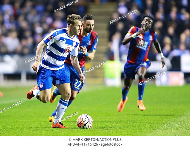 2016 Emirates FA Cup 6th Round Reading v Crystal Palace Mar 11th. 11.03.2016. Madejeski Stadium, Reading, England. Emirates FA Cup 6th Round