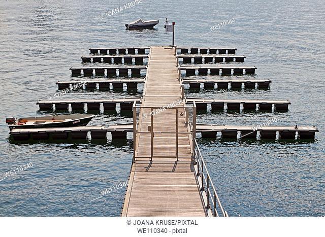 a pier off-season