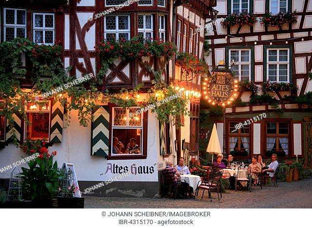 Weinhaus Altes Haus restaurant, Bacharach, Rhine Gorge, Rhineland-Palatinate, Germany