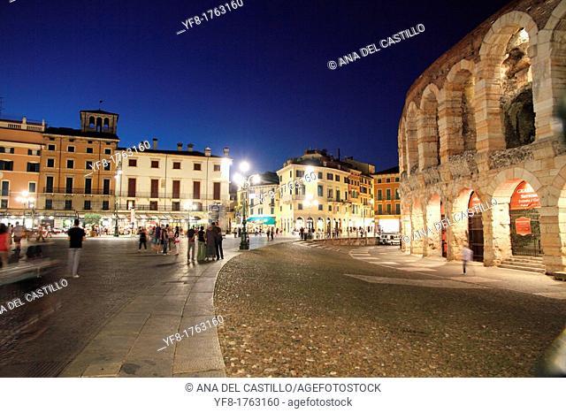 Italy, Veneto, Verona, Arena
