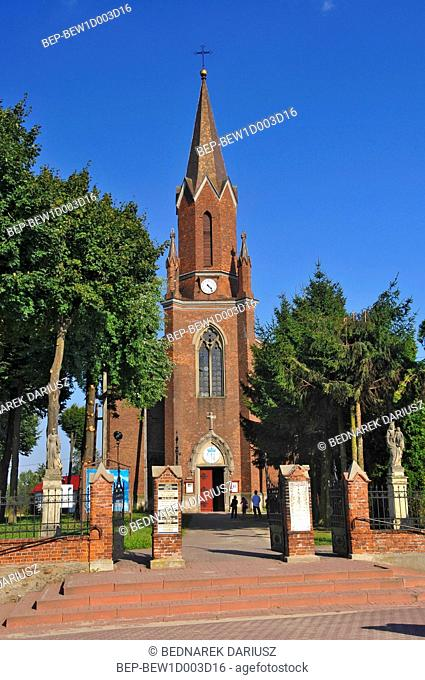 Neo-Gothic Church of St. Catherine from the beginning of XX century. Iwaniska, Swietokrzyskie Voivodeship, Poland