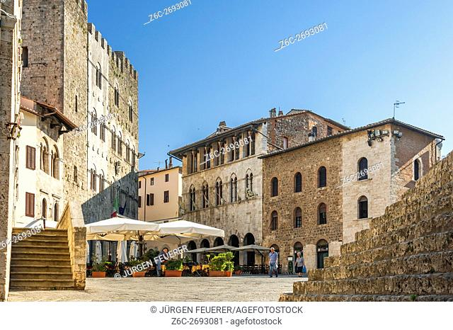 Massa Marittima, buildings of the Middle Ages, Tuscany, Italy