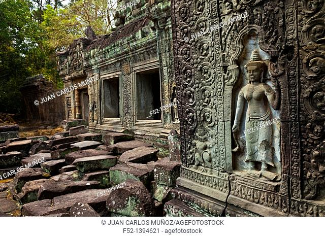 Apsara  Preah Khan Temple  Angkor  Siem Reap town, Siem Reap province  Cambodia, Asia