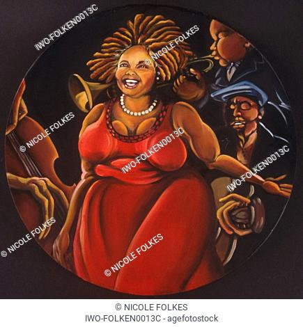 Woman with Jazz Band