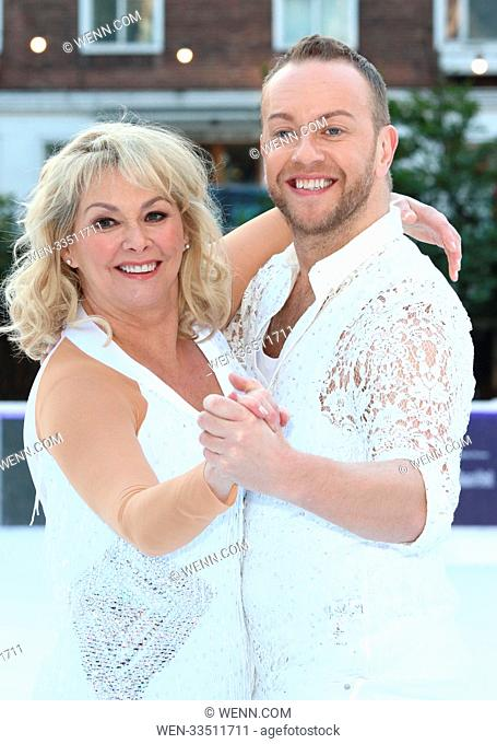 Dancing On Ice 2018 photocall at the Natural History Museum Ice Rink Featuring: Cheryl Baker, Dan Whiston Where: London, United Kingdom When: 19 Dec 2017...