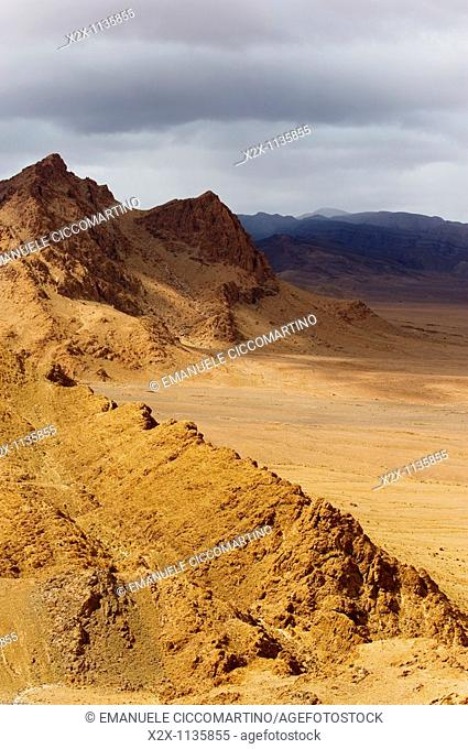 Mountains around the oasis of Figuig, province of Figuig, Oriental Region, Morocco