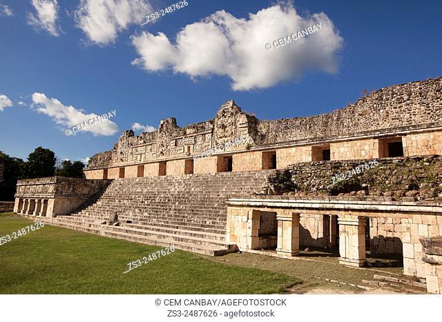 Quadrangle Of The Nuns at Uxmal Ruins, Yucatan Province, Mexico, Central America