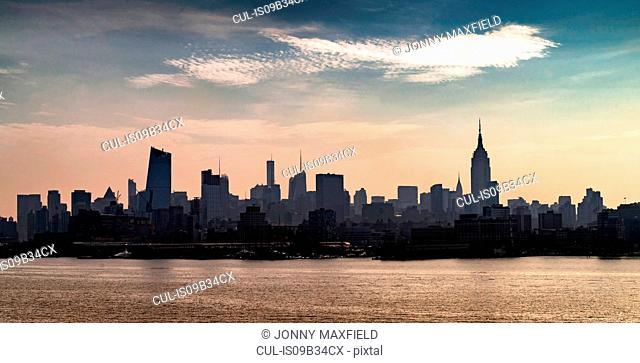 Skyline, Hoboken, New Jersey, USA