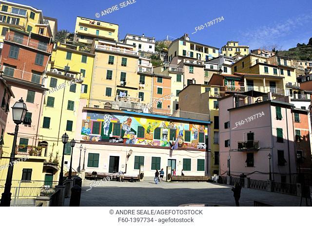 Colorful houses, Riomaggiore, Cinque Terre, UNESCO World Heritage, Liguria, Italy