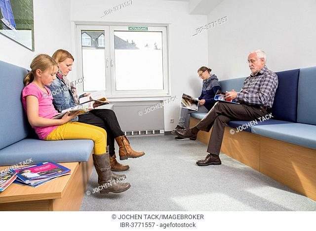 Waiting room of a dental office, Germany