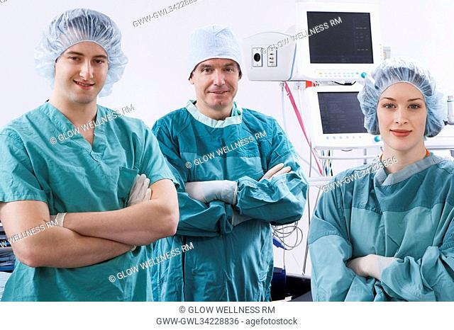 Surgeons smiling in an operating room